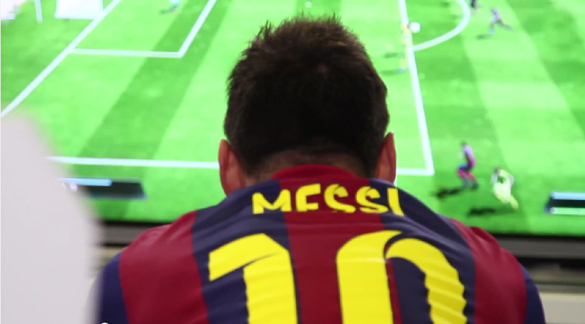 Messi, Neymar, Munir and Dani Alves Play (FIFA) With Themselves