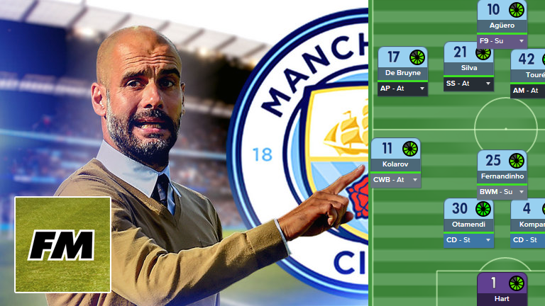 Guardiola Man City Tactics for Football Manager 2016/2017
